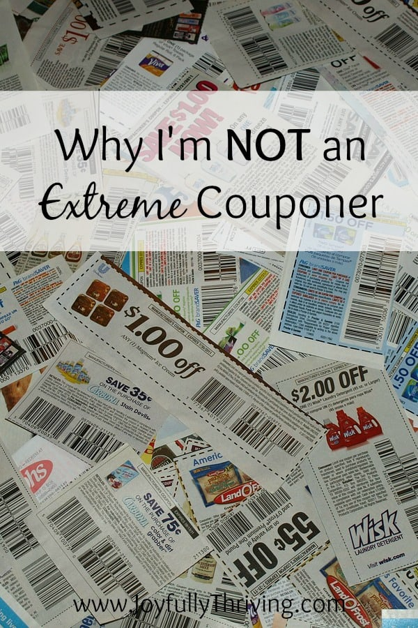 Lots of people are intrigued by extreme couponing and want to built massive stockpiles like they see on television. I'm not an extreme couponer and never will be. Here's why...