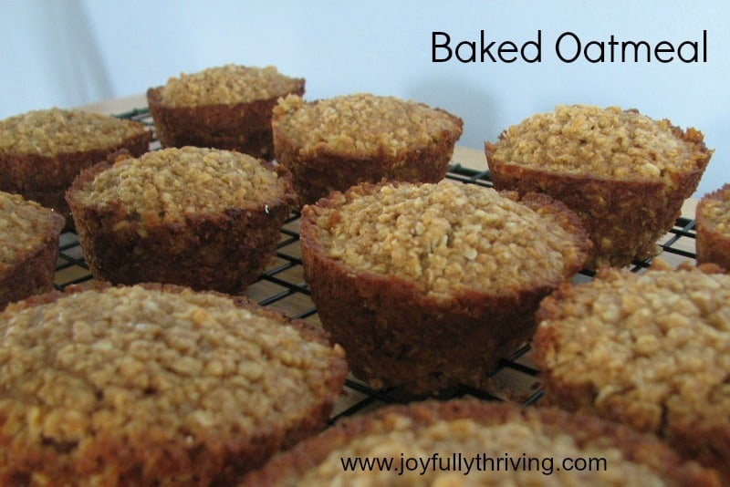 Baked Oatmeal is a perfect treat for a quick and filling breakfast. I love baking them in muffin tins for breakfast on the go. Plus, they freeze great!