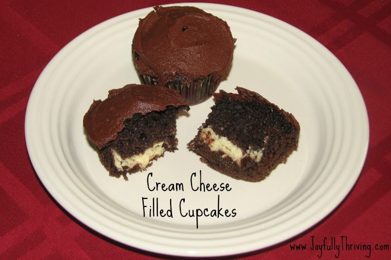 Cream Cheese Filled Cupcakes With Cake Mix
