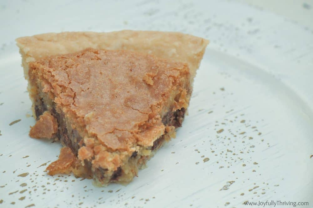 I love homemade tollhouse pie!
