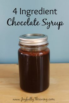 Easy Chocolate Syrup Recipe - Only 4 ingredients and so delicious! I love this homemade chocolate syrup recipe.
