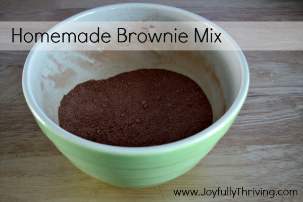 Brownie Mix from Scratch