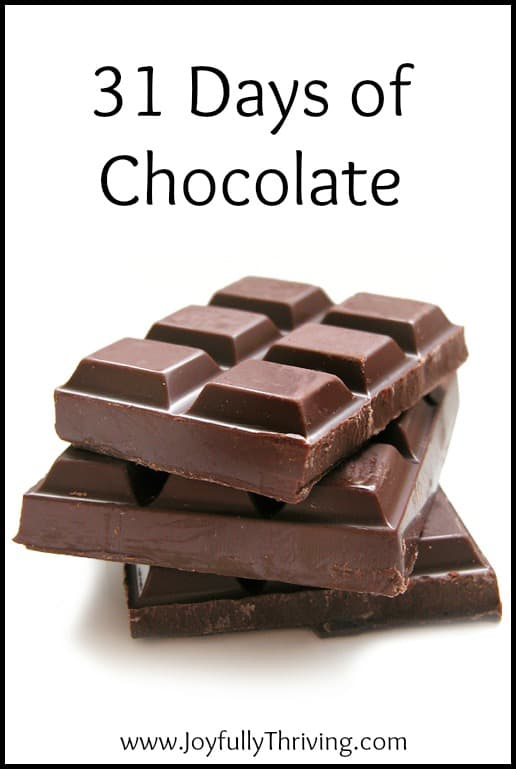 31 Days of Chocolate - If you're looking for delicious chocolate recipes, check out this series for 31 different ones!