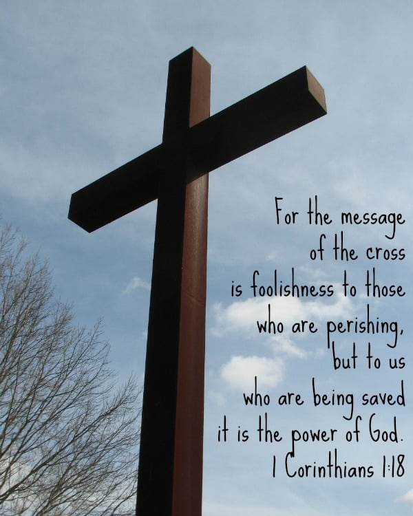Crown of Life Cross - 1 Corinthians 1:18