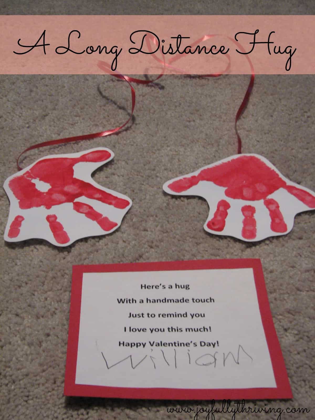 this simple and adorable craft is perfect for valentines day stamp your childs hands to