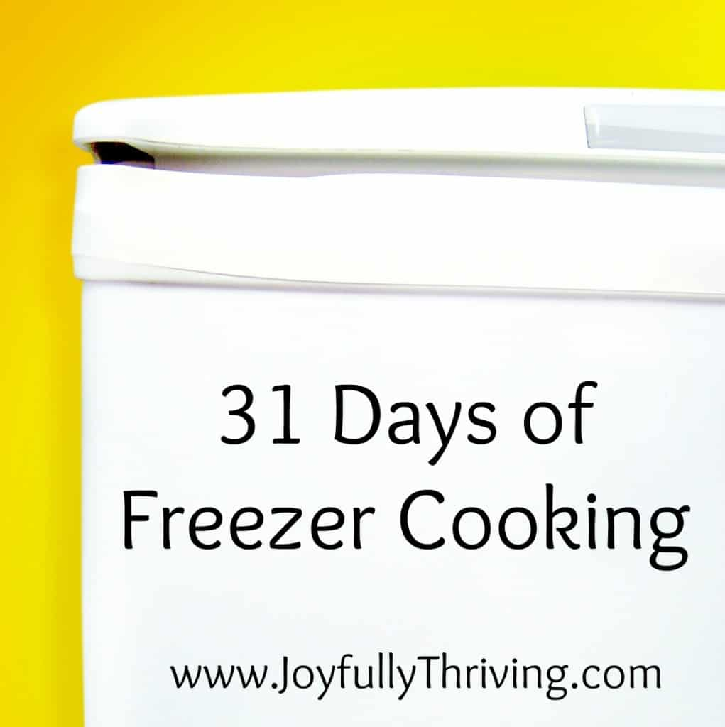 If you want ideas for freezer cooking, check out this series with a full 31 days of freezer cooking recipes! Whether you are new to freezer cooking or an experienced cook, there are recipes here for everyone