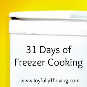 31 Days of Freezer Cooking
