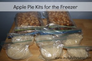 Apple Pie Kits for the Freezer - Joyfully Thriving