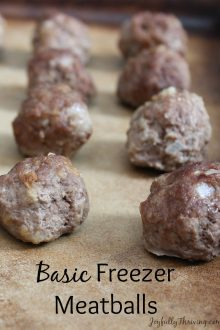 Basic Freezer Meatballs