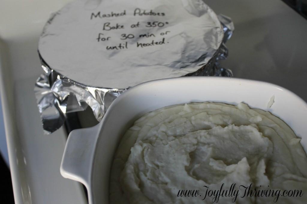 Freezer Mashed Potatoes - Joyfully Thriving