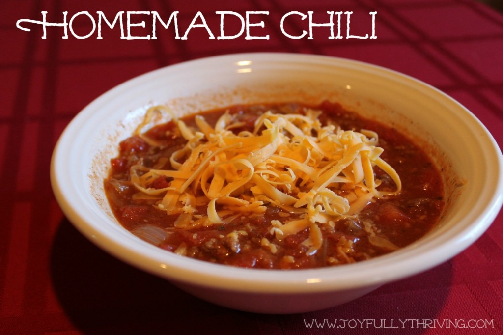 Homemade Chili - Joyfully Thriving