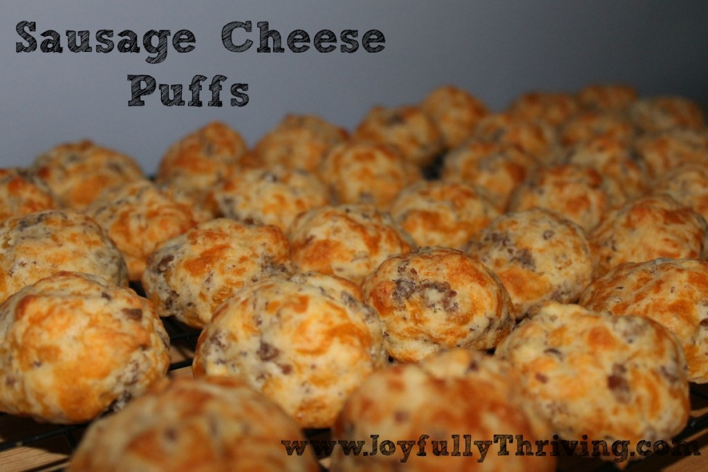 Sausage Cheese Puffs - No Mix Required! - Joyfully Thriving