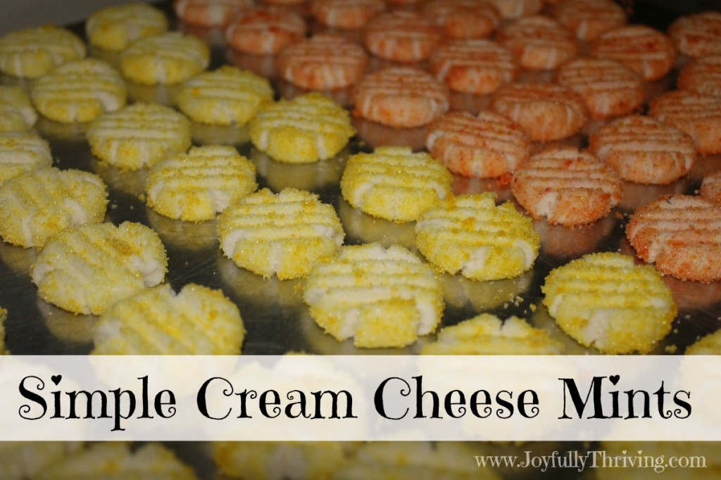 Simple and Delicious Cream Cheese Mints - Joyfully Thriving