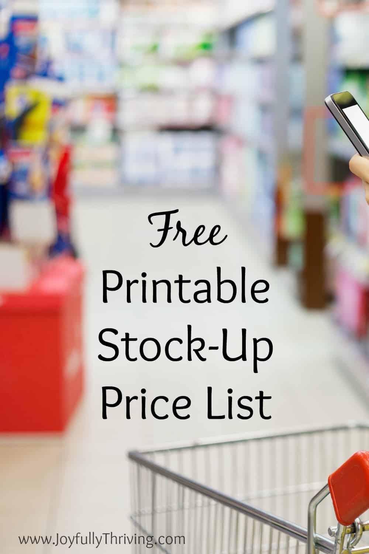 free printable stock