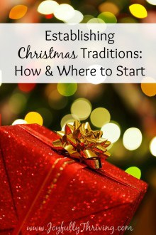 Establishing Christmas Traditions If you're looking for simple ideas (and encouragement) on how to establish Christmas traditions with your family, here are some ideas of how and where to start.