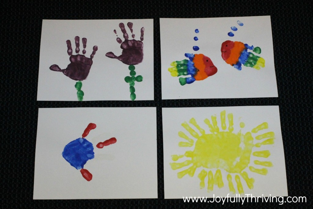 Handprint Calendar - May, June, July & August Ideas