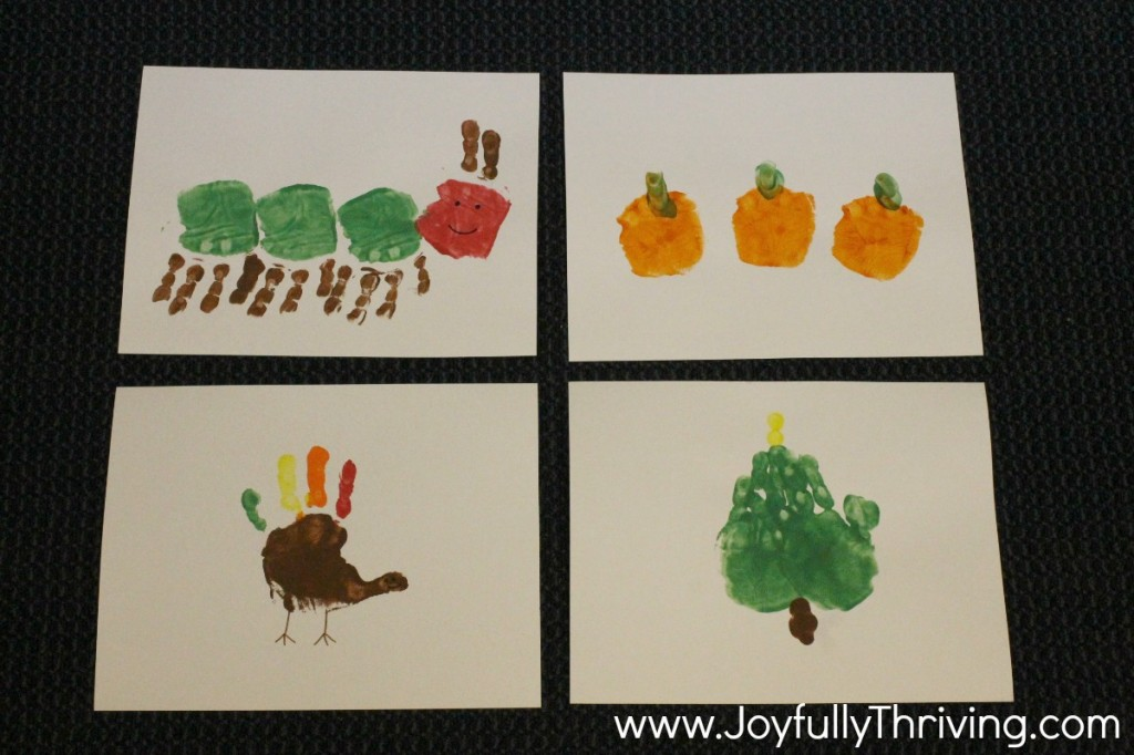 Handprint Calendar - September, October, November & December Ideas