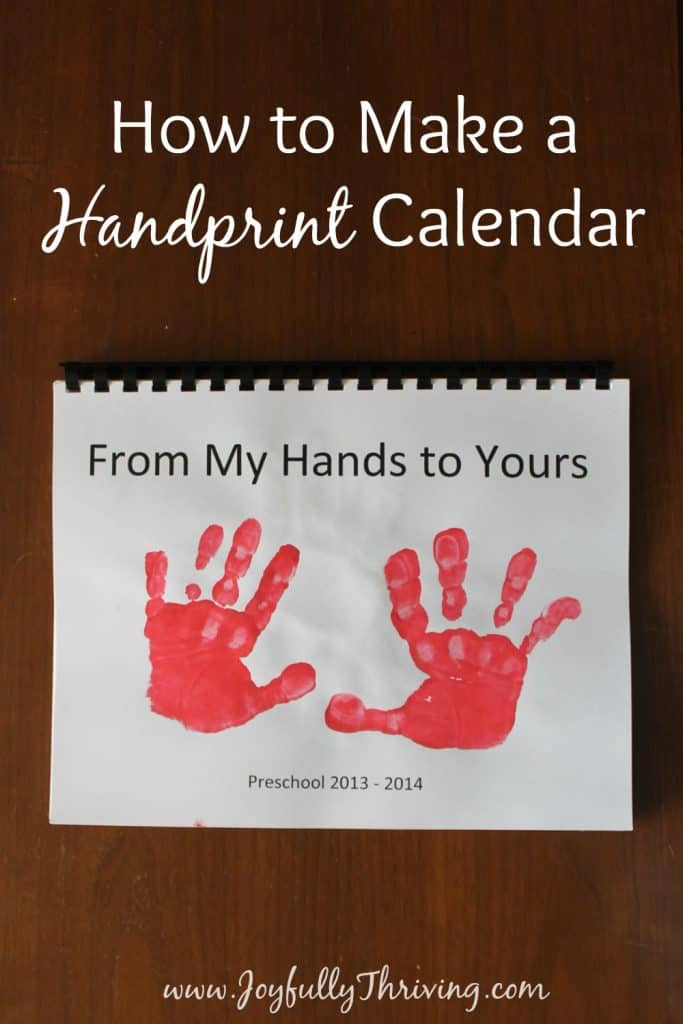 Calendar Ideas For Children To Make : How to make a handprint calendar