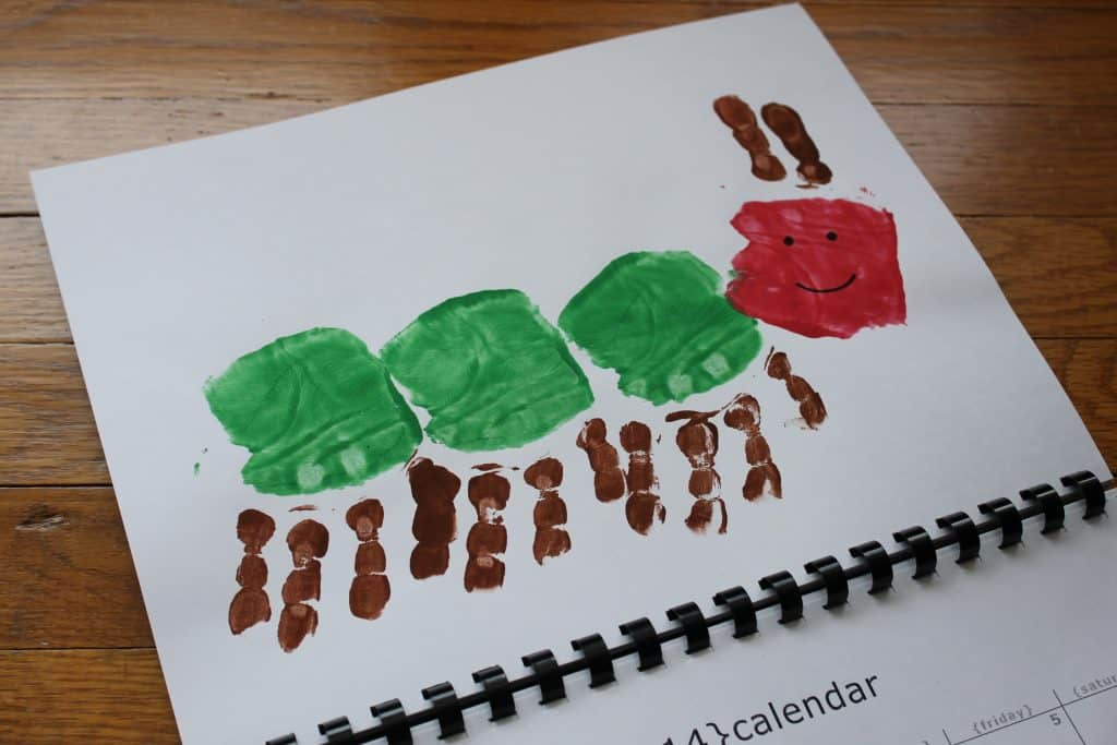Very Hungry Caterpillar Handprint Calendar