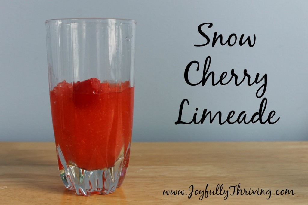 Snow Cherry Limeade - A perfect snow day recipe for a copycat Sonic drink.