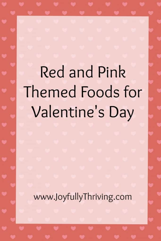 Red and Pink Themed Foods for Valentine's Day