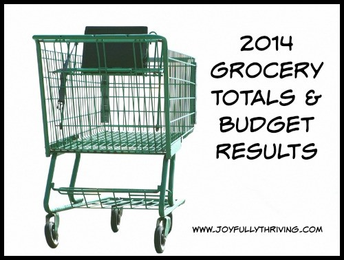 2014 Grocery Totals and Budget Results for the Year - Joyfully Thriving