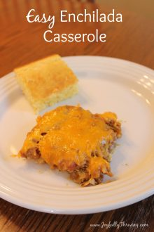 Need a quick dinner recipe? This easy enchilada casserole is simple recipe your whole family will enjoy.