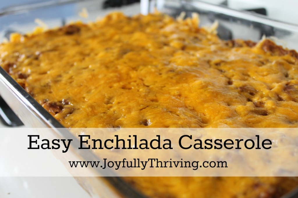 Easy Enchilada Casserole - A quick, delicious meal made in easy casserole form.