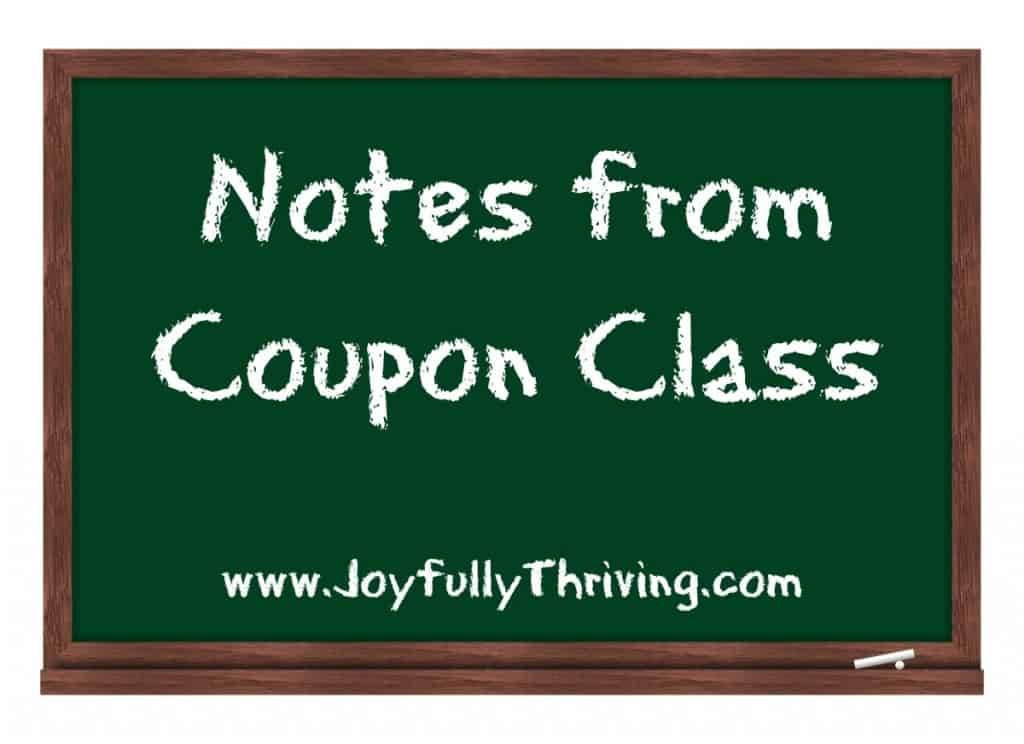 Notes from Coupon Class