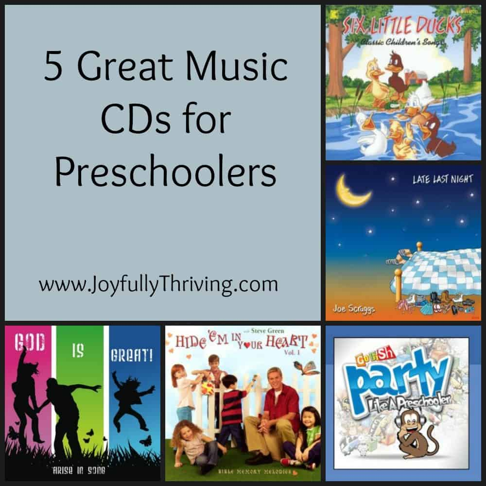If you are looking for quality, Christian music for your preschoolers, check out these cds for songs that kids and moms will enjoy!  These are perfect for at home or in preschool.