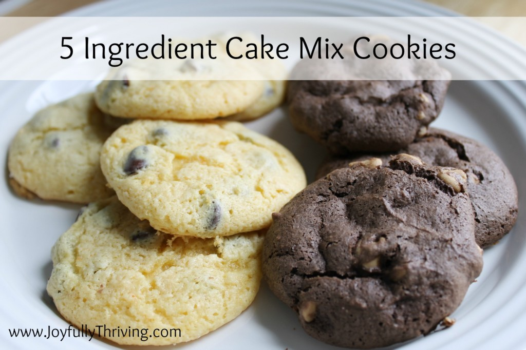 5 ingredient cake mix cookies that can be made with any variety of cake mix. So simple yet so delicious!