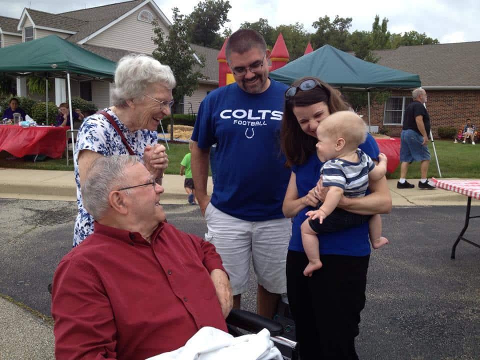 Meeting Great Grandparents