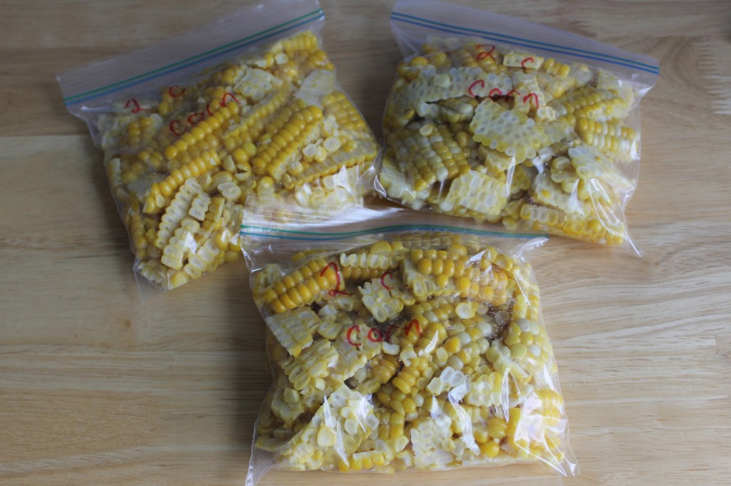 Sweet Corn for the Freezer