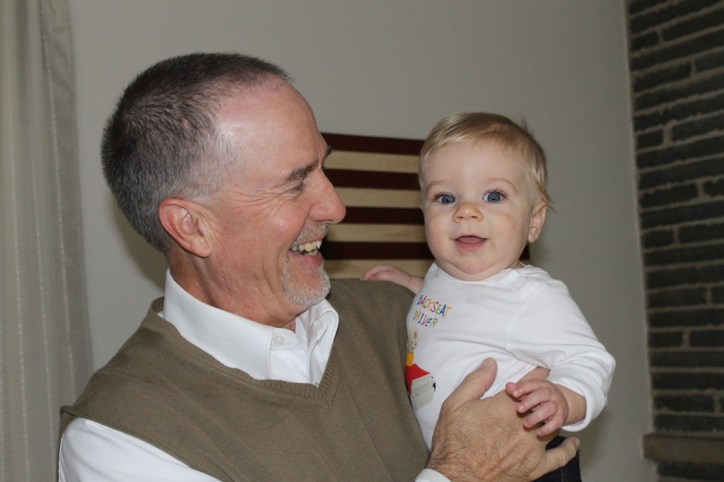 Nathan and his Grandpa Barz
