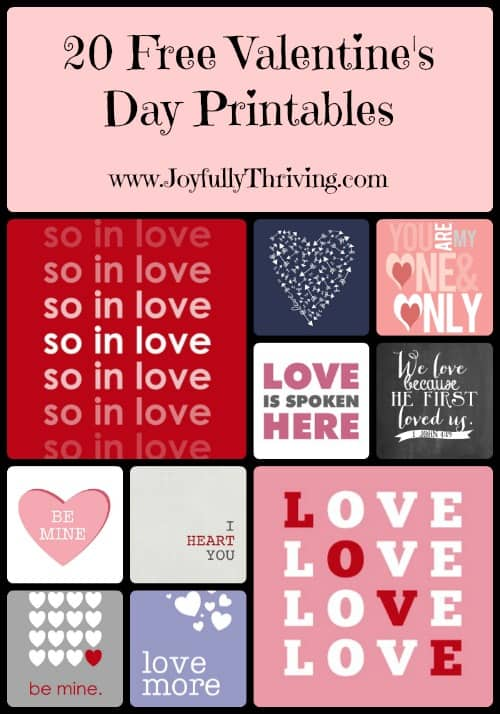 20 Free Valentine's Day Printables - Looking for quick and festive decor Print and frame some of these cute printables for Valentine's Day!