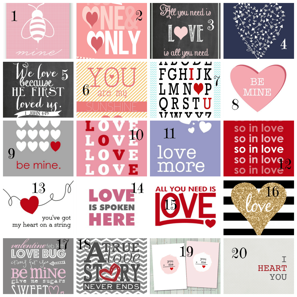 graphic about Valentines Printable Free referred to as 20 Totally free Valentine Printables