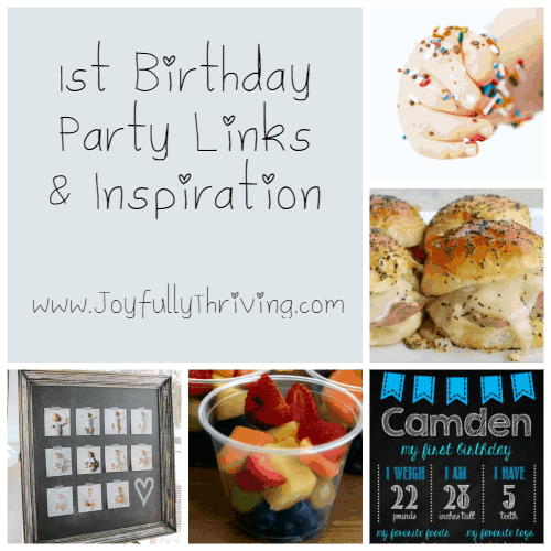 1st Birthday Party Links & Inspiration