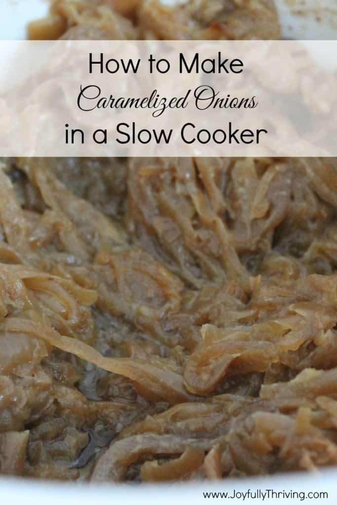 How to Make Caramelized Onions in a Slow Cooker - You won't believe ...