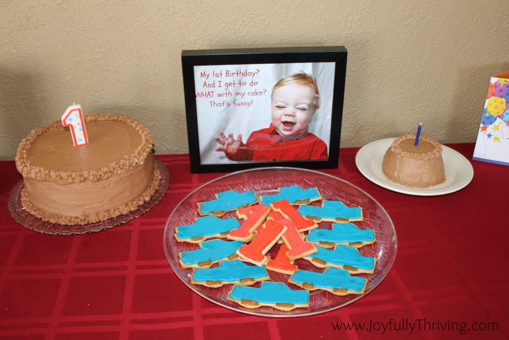1st Birthday Cake and Cookies - Joyfully Thriving