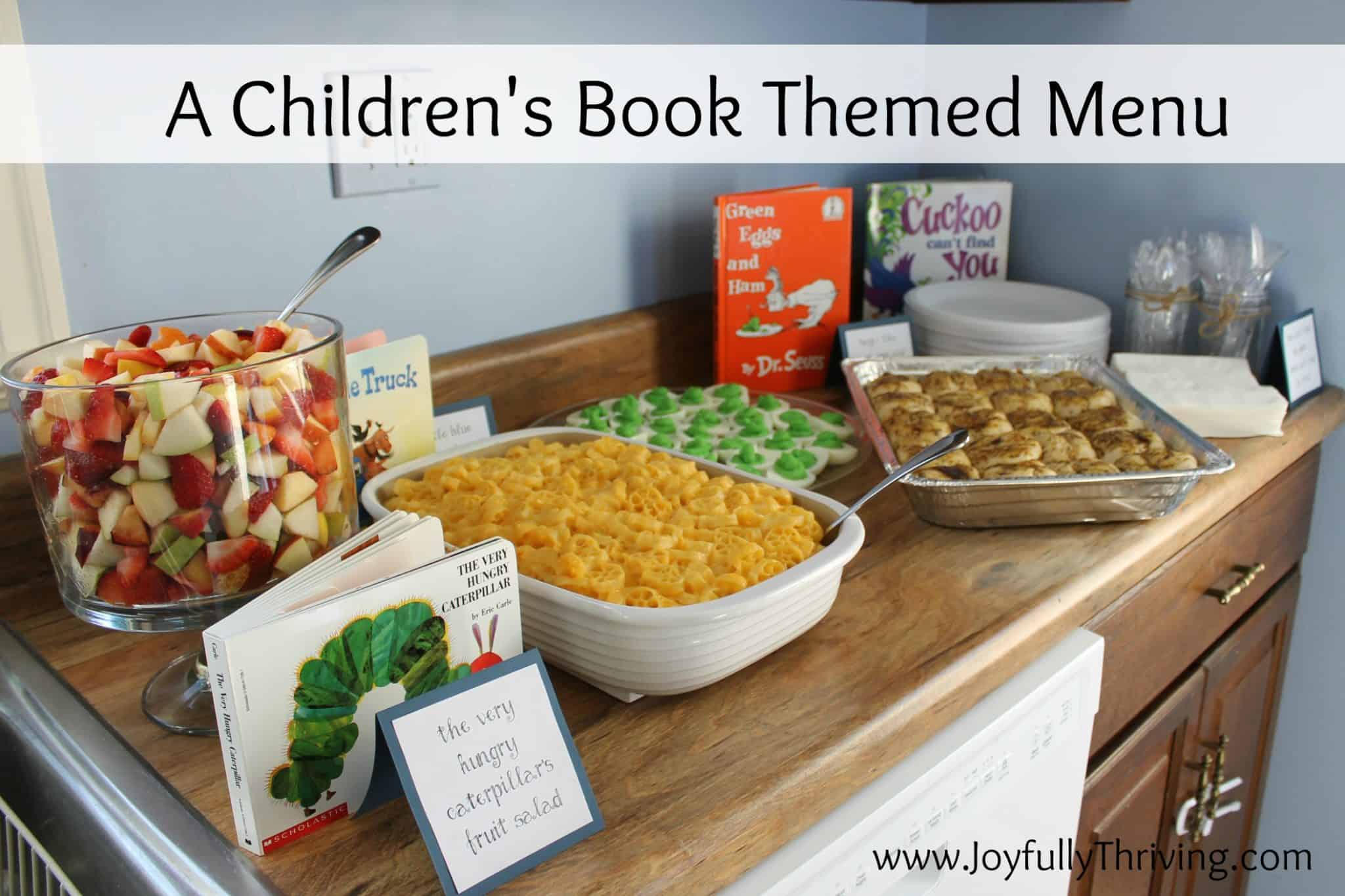 Birthday Party Dinner Menu Ideas Part - 18: A Childrenu0027s Book Themed Menu - Here Is A List Of Classic Childrenu0027s Books  And Foods