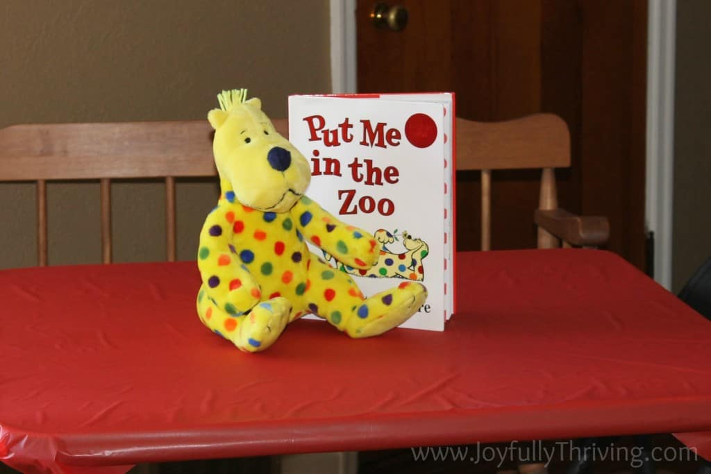 Put Me in the Zoo Table Topper - Joyfully Thriving