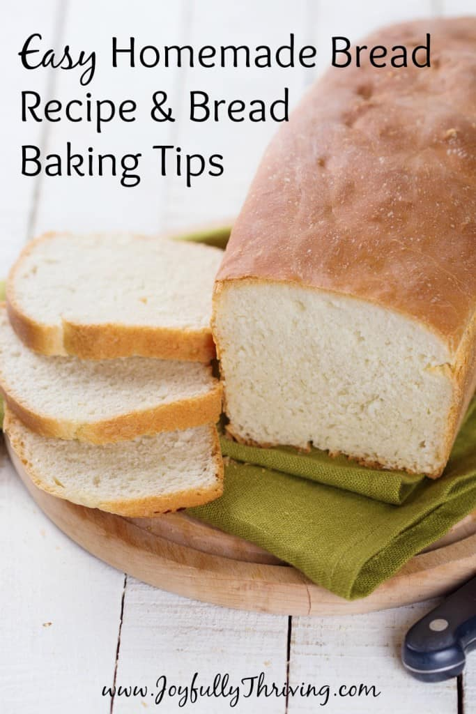 Easy Homemade Bread Recipe & Bread Baking Tips - It costs less than $0.50 a loaf to make this easy and delicious homemade bread. Great tips, too!