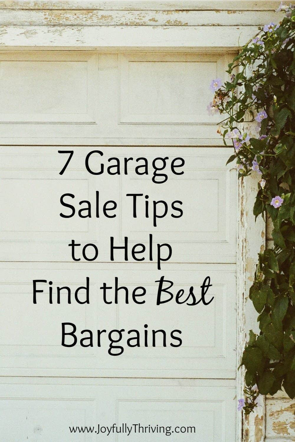 I love garage sales! Good garage sale tips here, especially number 1.