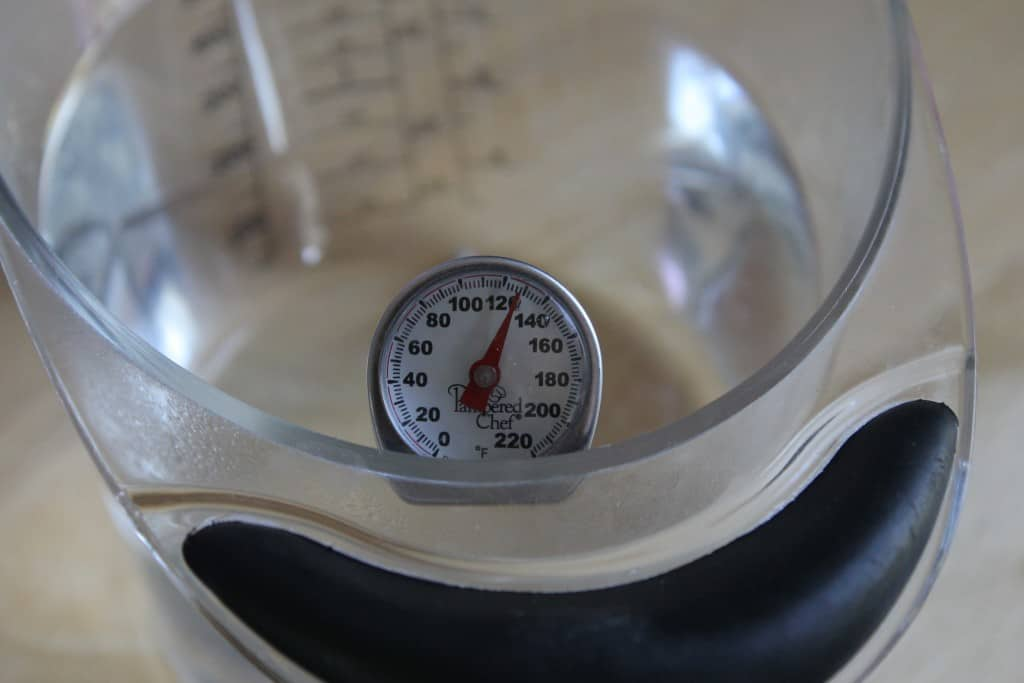 Use a thermometer to check your water when you are baking bread! It really does make a difference. Read more bread baking tips here to help you make a perfect loaf every time!