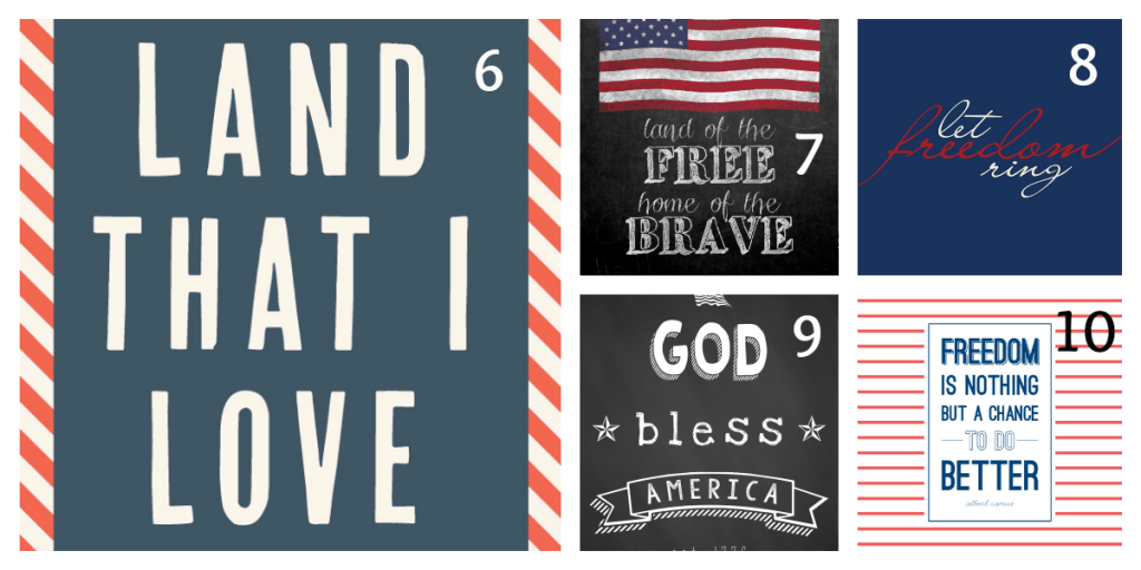 4th of July Printables 2