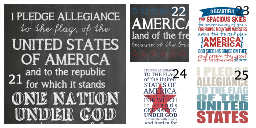 4th of July Printables 5