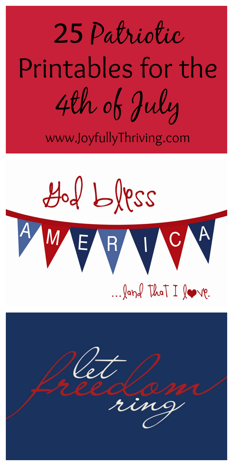 It is a graphic of Soft Free Fourth of July Printables