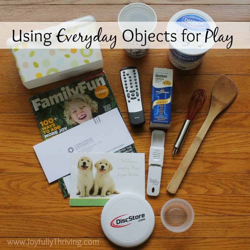 If you're looking for simple ways to use everyday objects to engage your baby in play, this article has some great ideas! It's written by an early childhood teacher & mom, too!