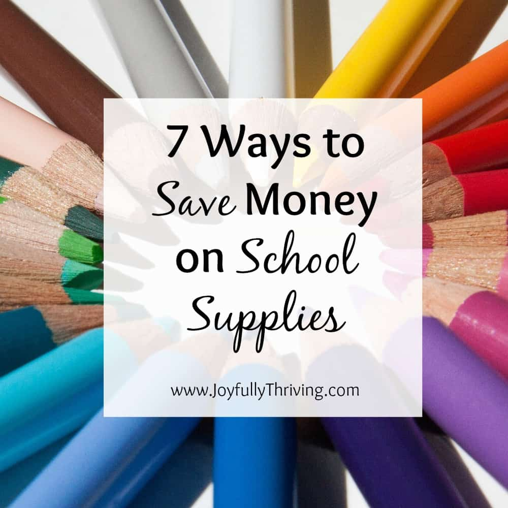 7 Ways to Save Money on School Supplies Square