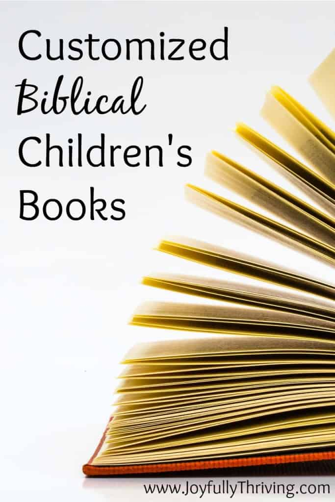 customized biblical childrens books